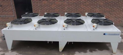 Cooler & Condensers Free Cooling Ambient Air Water Chiller 8 Fan Flat Bed System